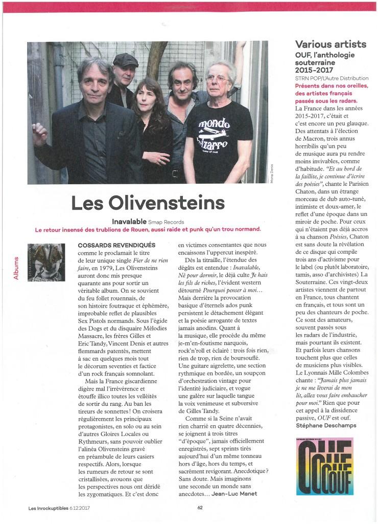 Les Olivensteins (Inrocks 6 décembre 2017)